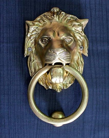 Genial StonKraft Ideal Gift   Beautiful Brass Lion Mouth Door Knocker, Door  Accessories, Gate Knocker