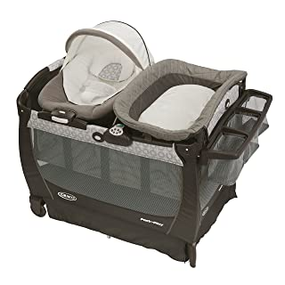Graco Pack 'n Play Playard Bassinet Changer Snuggle Suite LX Baby Bouncer, Abbington 1927562