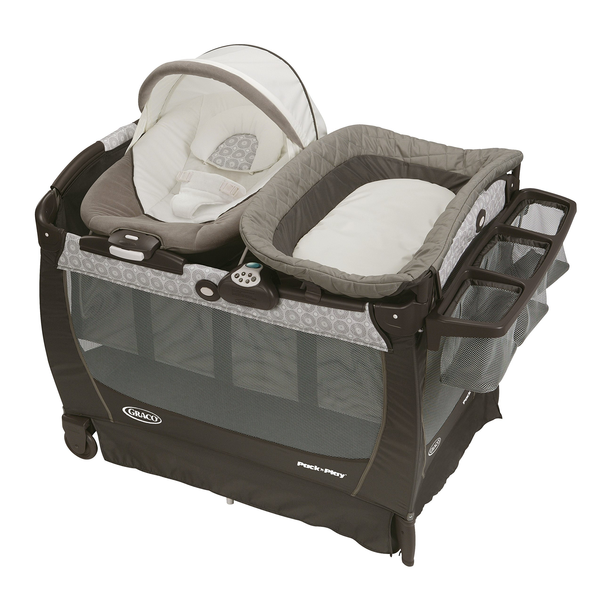 Graco Pack 'N Play Playard Bassinet Changer Snuggle Suite Lx Baby Bouncer Abb.. 20