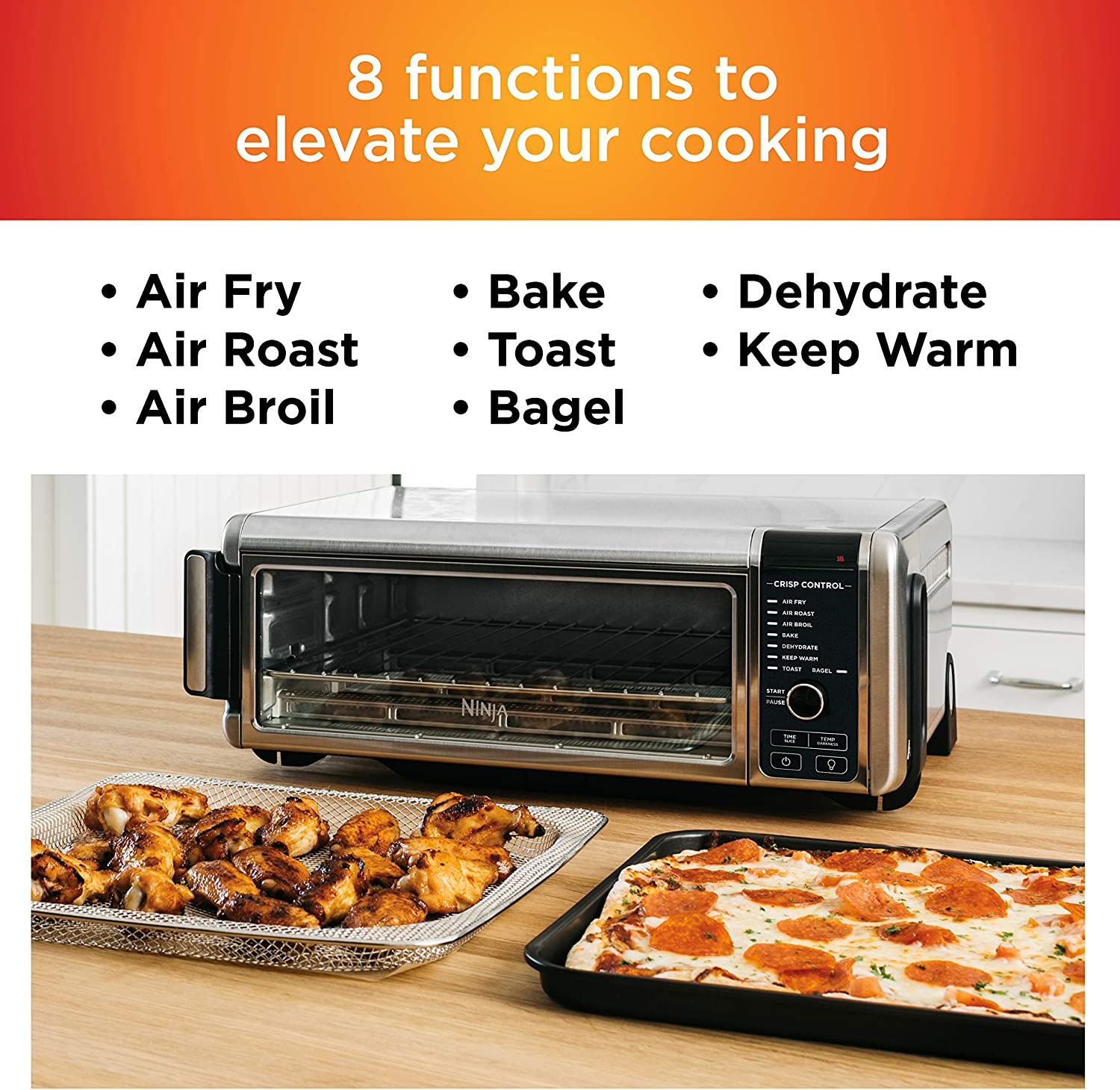 Ninja Foodi Digital Fry, Convection Oven, Toaster, Air Fryer, Flip-Away for Storage, with XL Capacity, and a Stainless Steel Finish: Kitchen & Dining