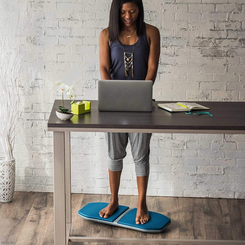 gaiam Evolve Balance Board for Standing Desk Ocean Stability Rocker Wobble Board for Constant Movement to Increase Focus Alternative to Standing Desk Anti-Fatigue Mat