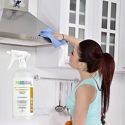 Aerosol removedor de grasa ecológico Probisa Micro Grease 862 - limpiador de cocina natural, desengrasante de hornos seguro - limpia manchas, grasa y aceite - fuerza máxima (Conjunto completo - 500 ml