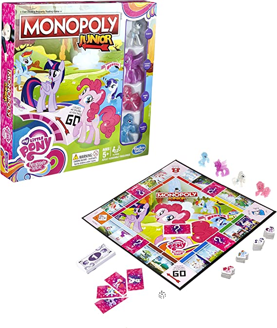 Hasbro - Monopoly para niños «My Little Pony Friendship is Magic»: Amazon.es: Juguetes y juegos