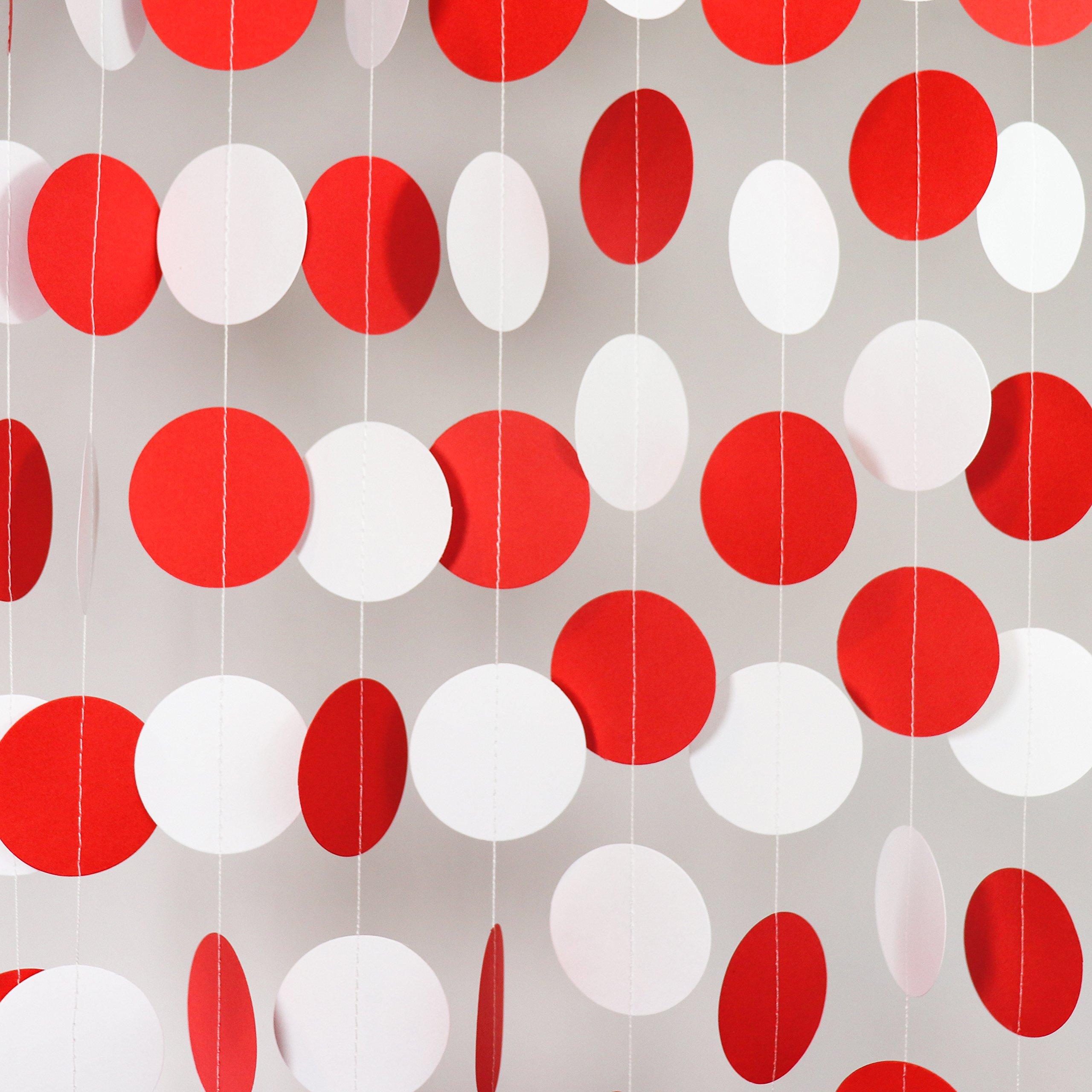 Ladybug Birthday Party Decoration Black White Red Tissue Paper Pom