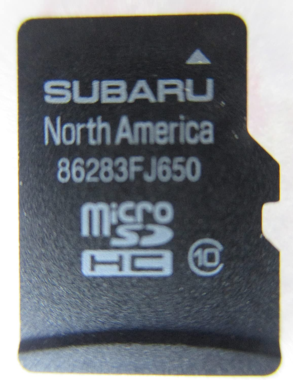 MAP for North America FJ650 2015 2016 SUBARU CROSSTREK IMPEZA WRX Forester STI Micro SD Navigation Card USA//Canada Part Number 86283FJ650
