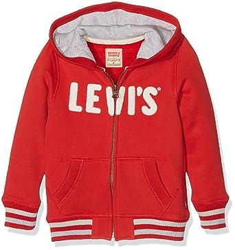 d19c7460269b Levi s Kids Jungen Kapuzenpullover Zipper CHAN, Rot (Pompeian Red 36), 176 (