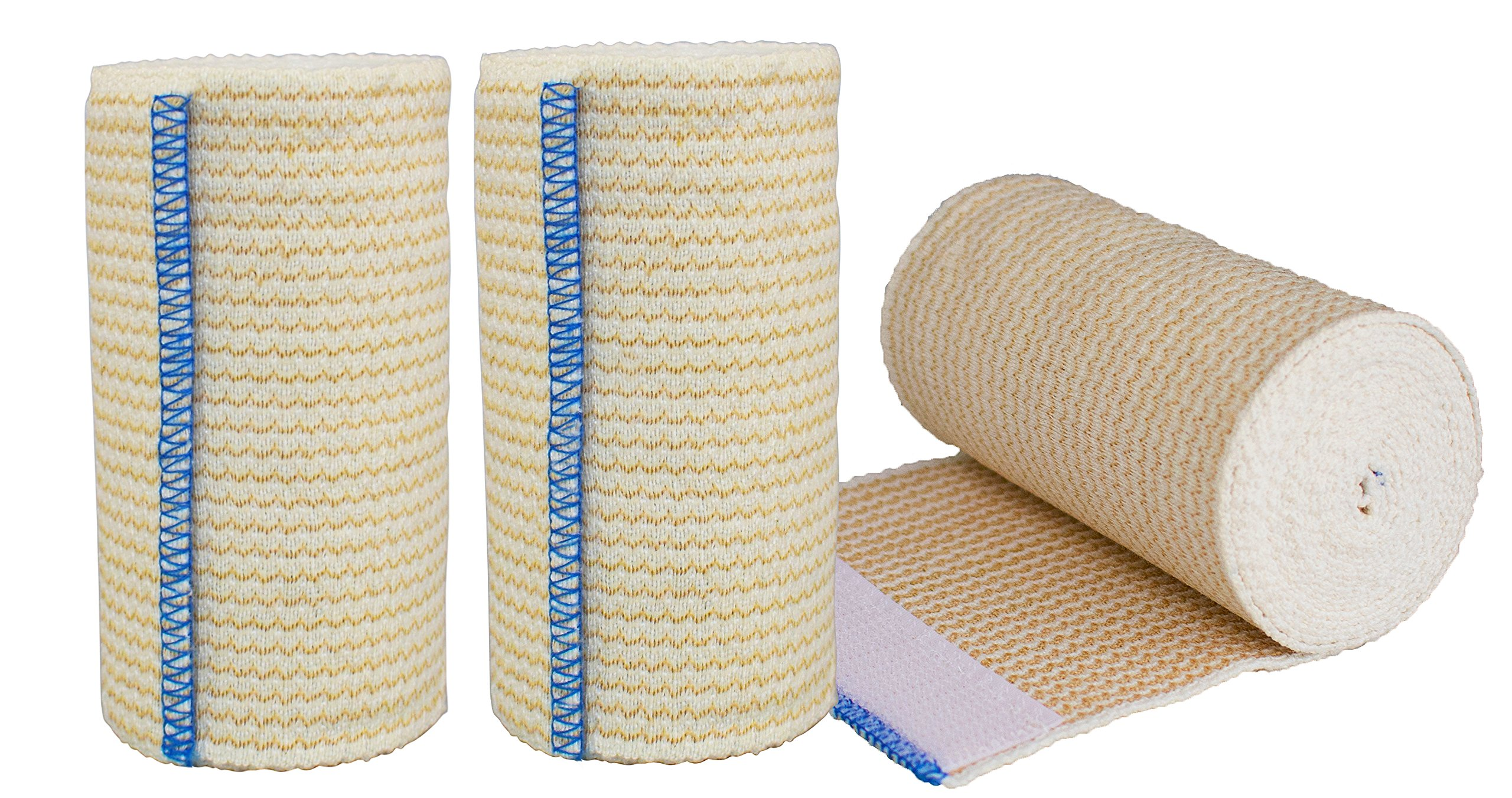 Nexskin Forever American Cotton Elastic Bandage Wrap with Hook and Loop Closure, 4'' Width (3 Pack)