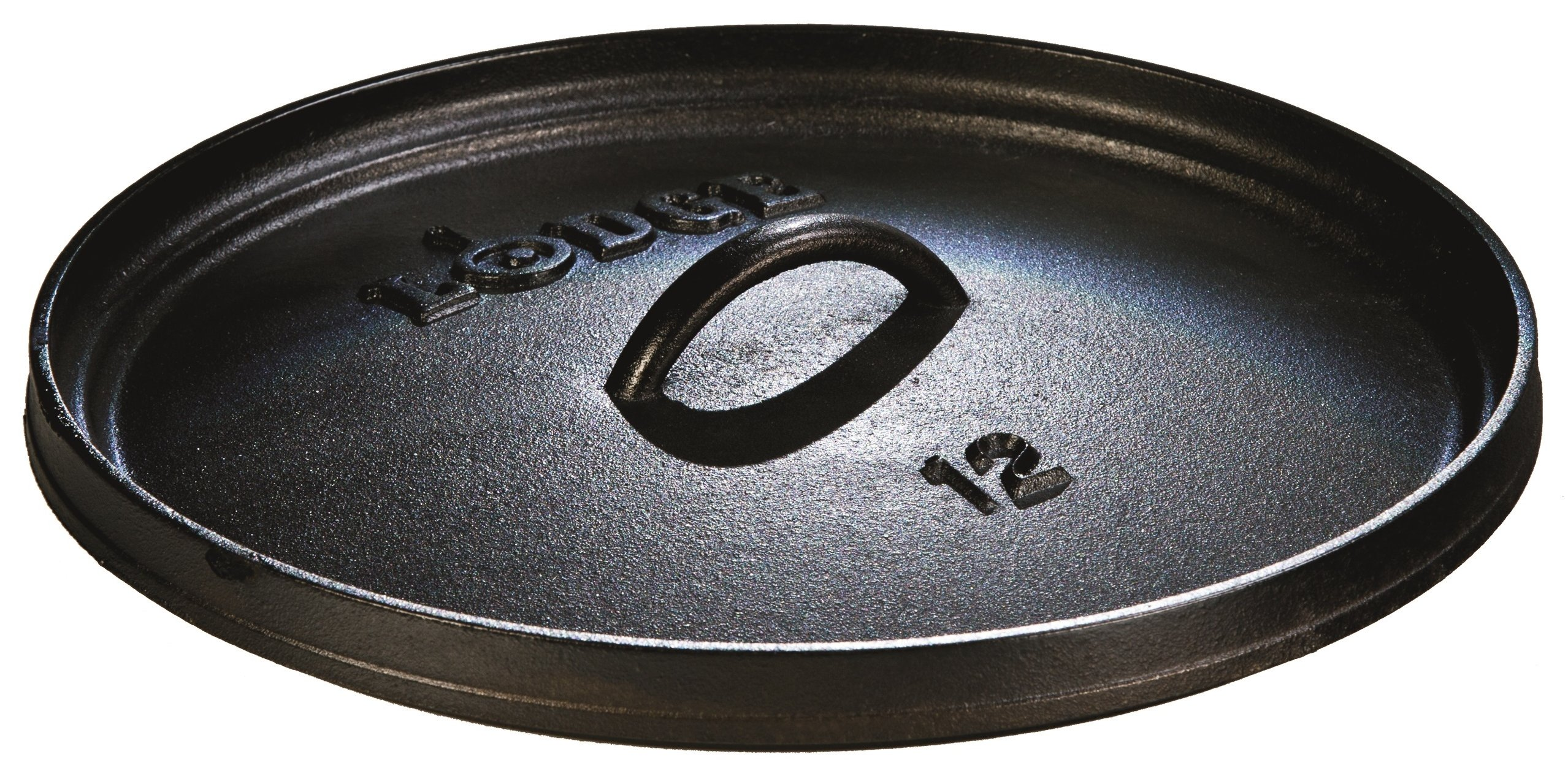 Lodge 8 Quart Camp Dutch Oven. 12 Inch Pre Seasoned Cast Iron Pot and Lid with Handle for Camp Cooking by Lodge