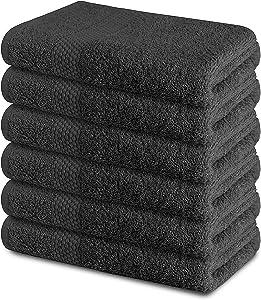 SOFTILE COLLECTION Cotton Bath Towels Set Ultra Soft 100% Cotton Large Bath Towel - Grey 24