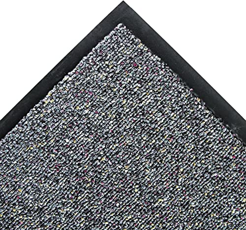 Crown CB0046GY Classic Berber Wiper Mat Nylon Olefin 48 x 72 Gray