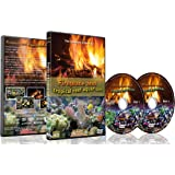 Fire and Fish - 2 DVD Set - Fireplace and Tropical Reef Aquarium 2016 with Fish Tank Sounds or Music