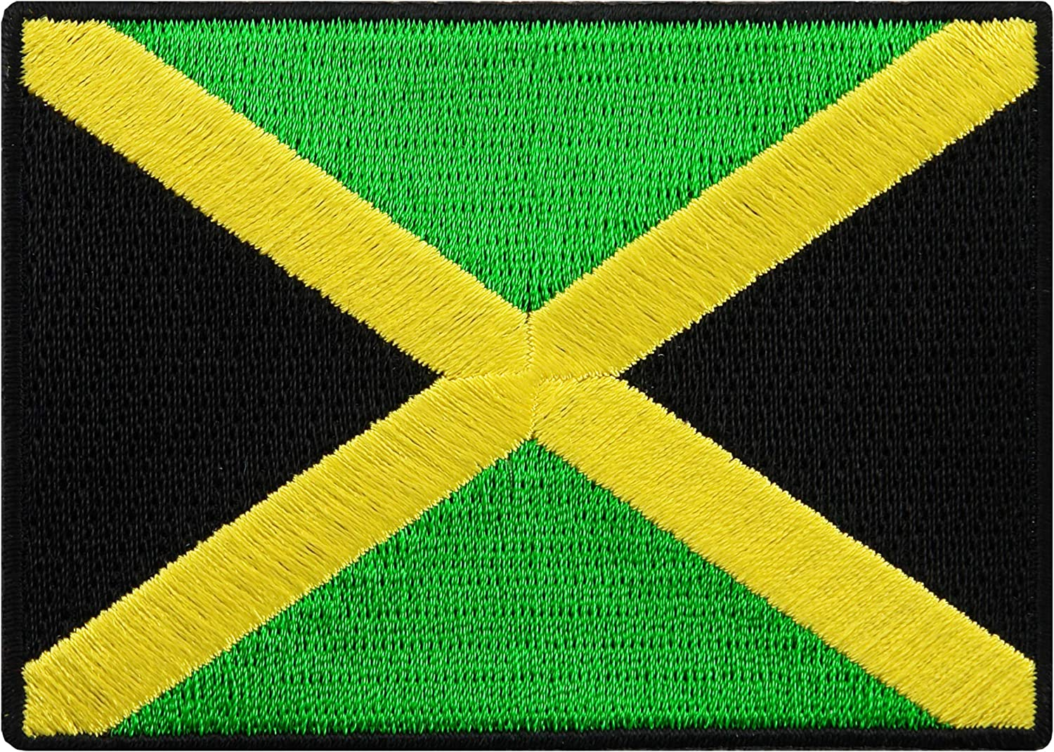 Vintage Iron On Embroidered Jamaica Flag Patch