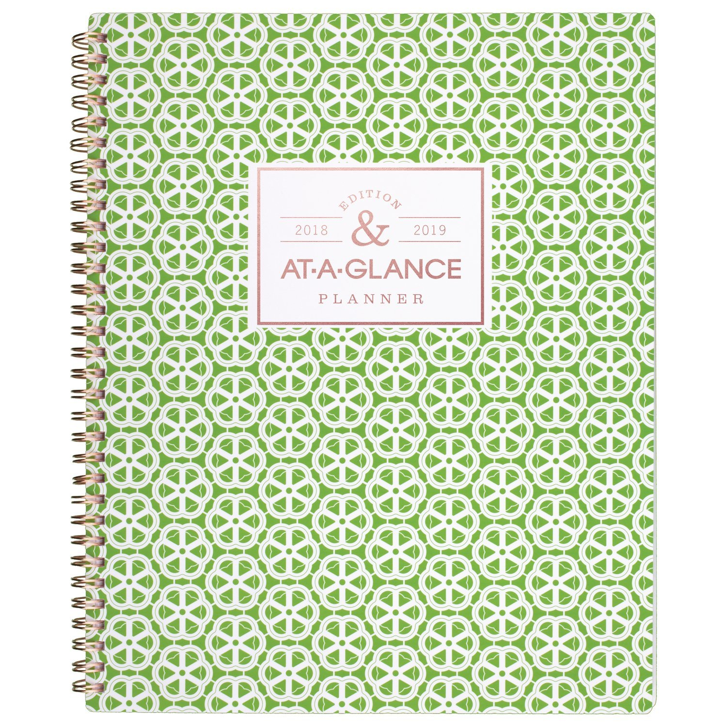 AT-A-GLANCE Academic Weekly/Monthly Planner/Appointment Book, July 2018 - June 2019, 8-1/2 x 11, Madrid, Black (793-905A-A8) 8-1/2 x 11 ACCO Brands