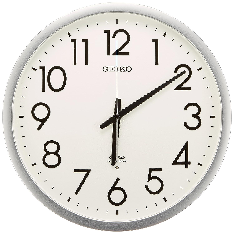 セイコー クロック 掛け時計 電波 アナログ オフィスタイプ 銀色 KS265S SEIKO B000JDF0OY