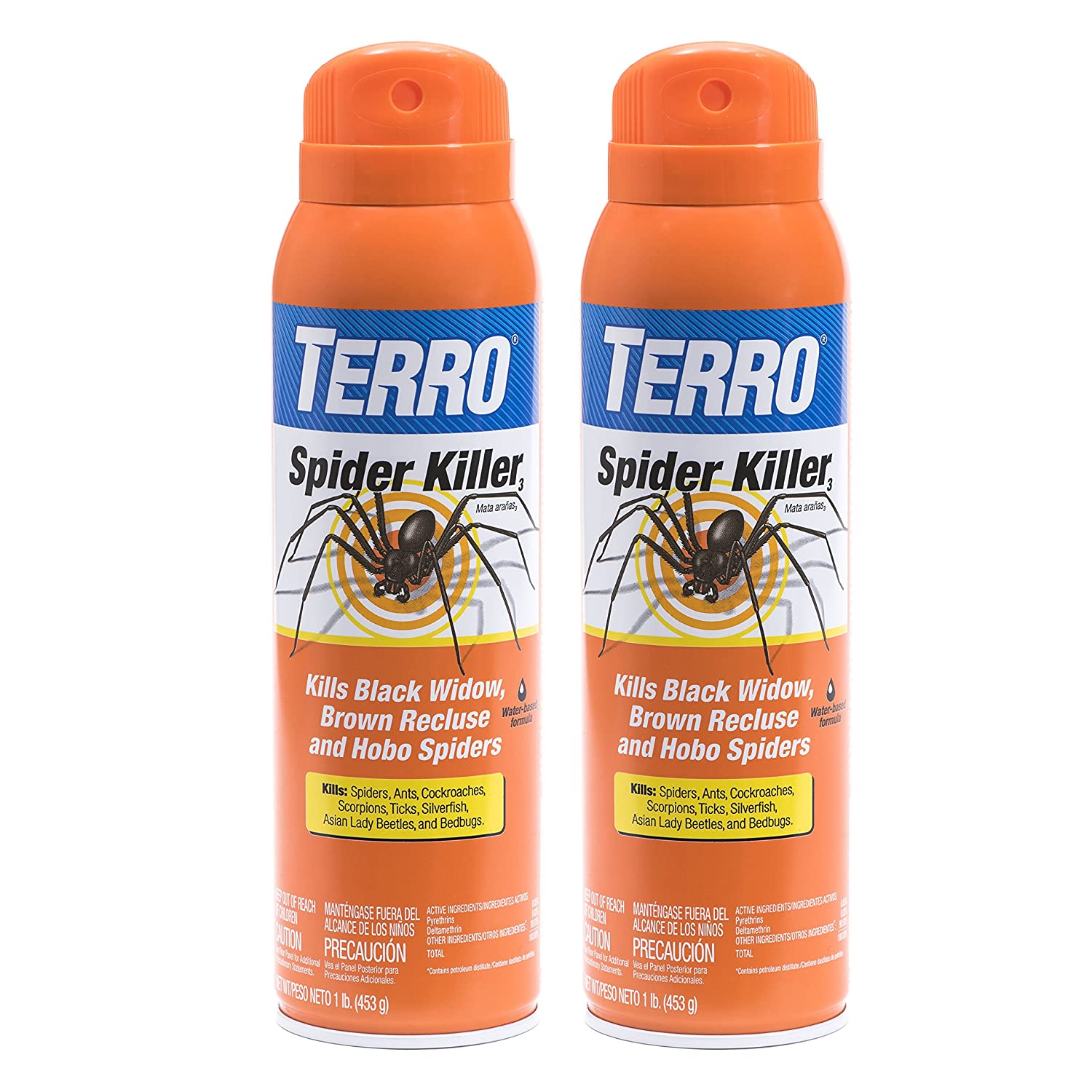 Amazon.com : TERRO T2302 Spider Killer Aerosol Spray : Home Pest Control Sprayers : Garden & Outdoor
