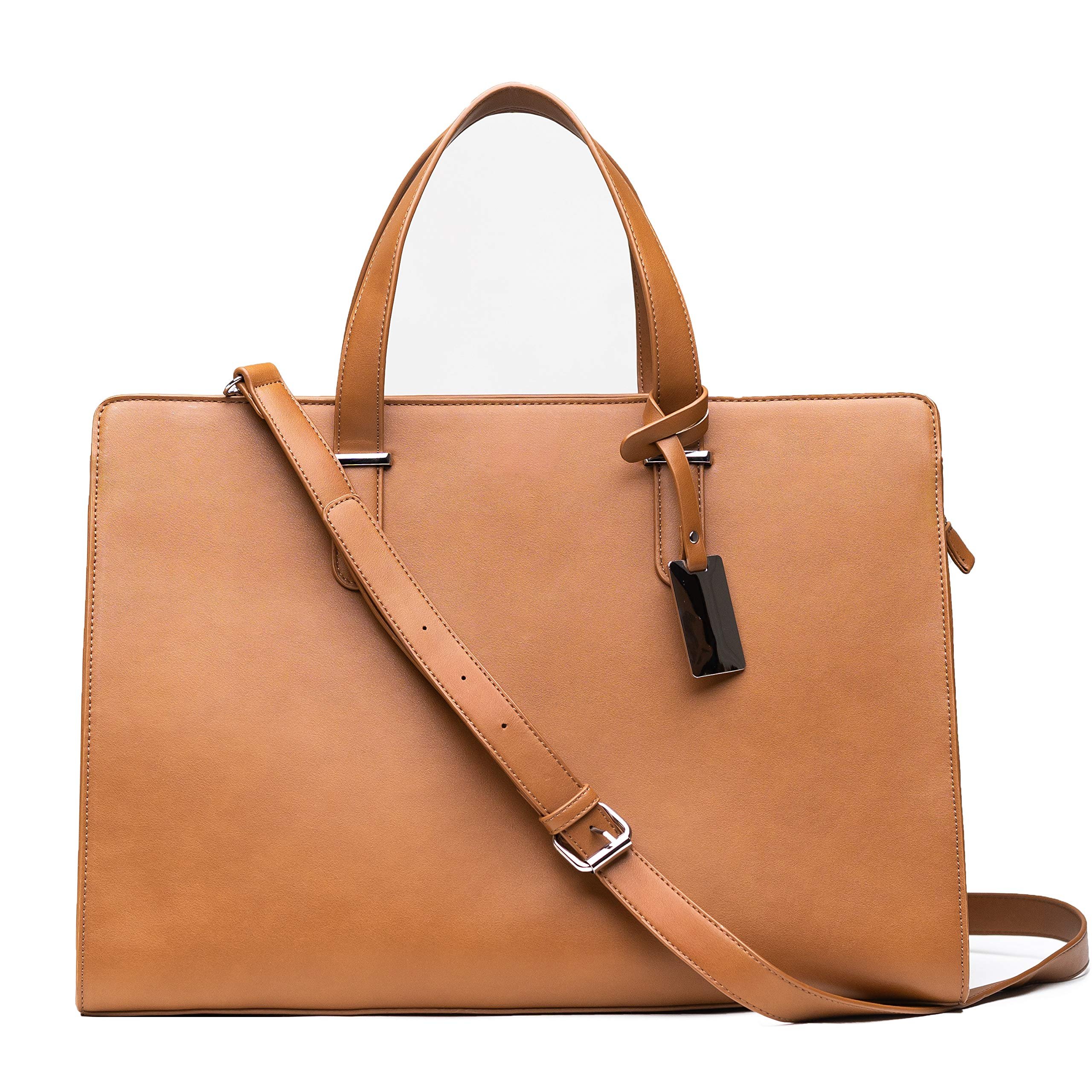 Computer Bag for Women - Ideal Laptop Tote Bag to Keep Your Business Documents, Laptop & Notebook Safe, Unique & Practical Laptop Accessories (Brown)