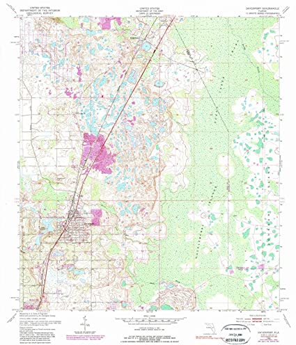 Map Of Davenport Florida.Amazon Com Florida Maps 1953 Davenport Fl Usgs Historical