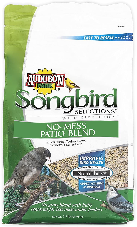 Songbird Selections 11987 No-Mess Patio Blend Wild Bird Food, 5.5-Pound