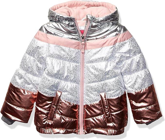 LONDON FOG Girls Little Shine Puffer Jacket