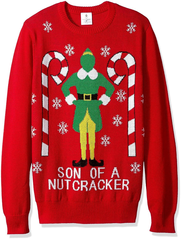 Amazoncom Elf Mens Son Of A Nutcracker Ugly Christmas Sweater