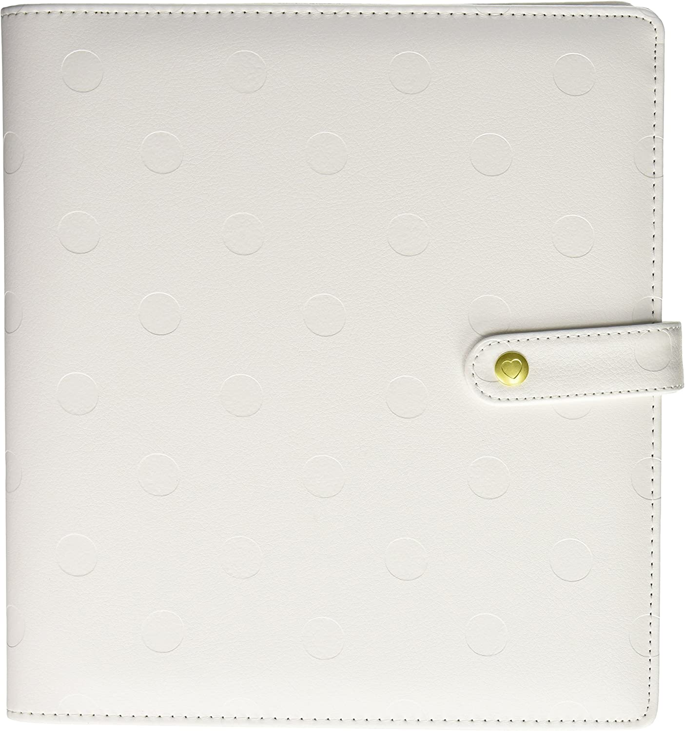 me & my BIG ideas CODC-08 Create 365 The Happy Planner Classic Deluxe Cover, Snow Dots