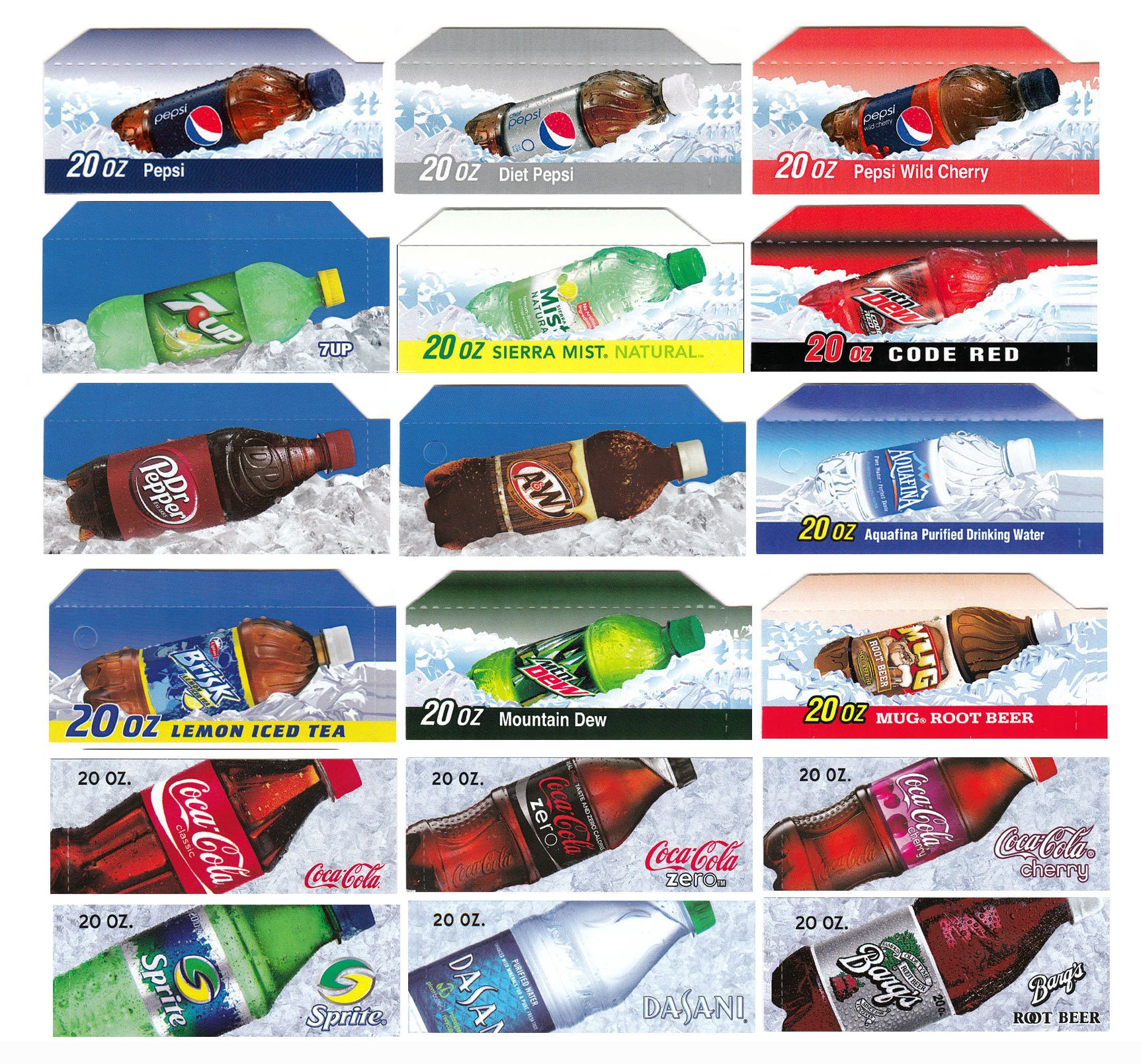 Vending-World - 18x Flavor Strip For 20 oz Bottles Soda Pepsi Coke Vending, fits Dixie Narco, Vendo