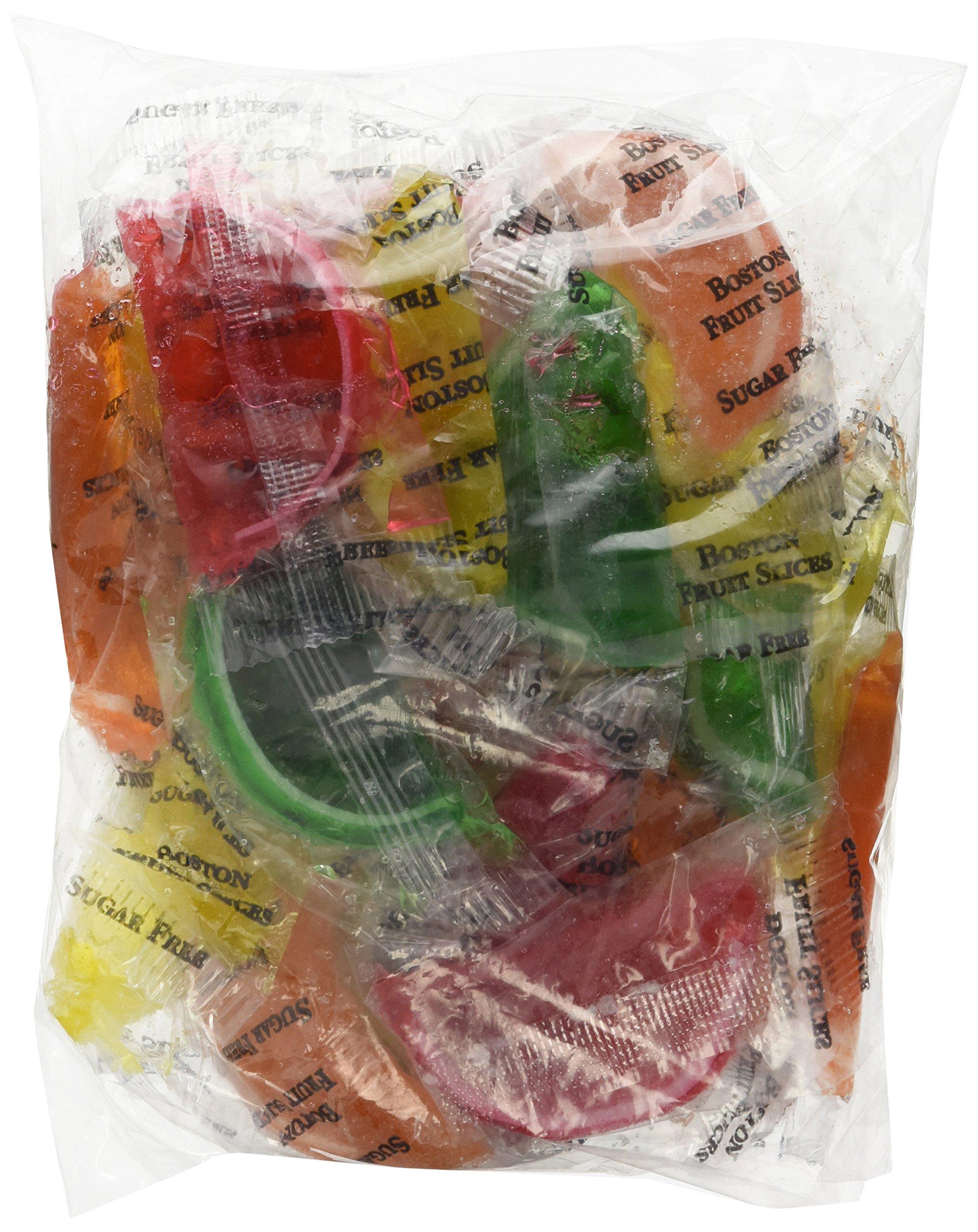 DiabeticFriendly Sugar Free Assorted Fruit Fruit Slices, Orange, Cherry, Lime & Lemon, Individually Wrapped, 1lb Bag