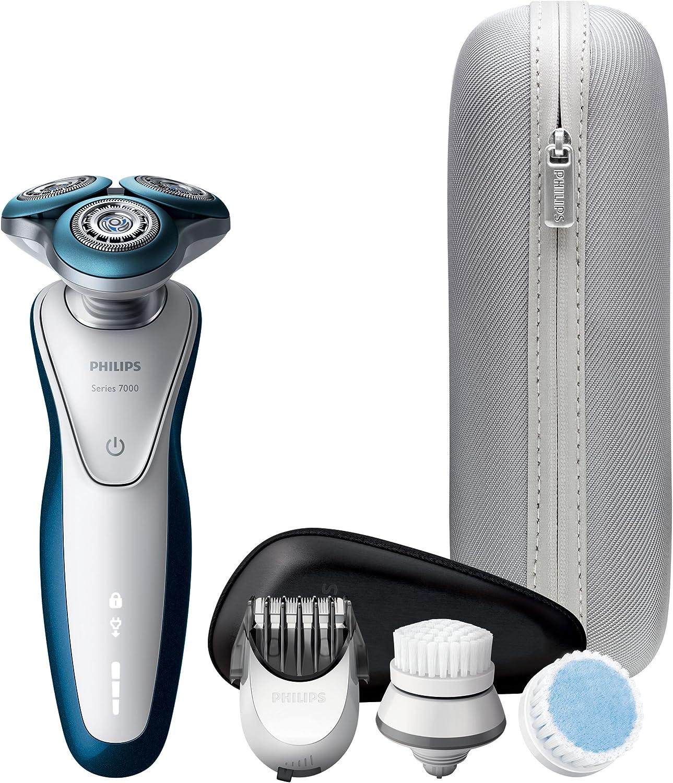 Philips SHAVER Series 7000 S7520/69 - Afeitadora (Máquina de afeitar de rotación, SH70, 2 año(s), Azul, Gris, Blanco, Batería, Ión de litio): Amazon.es: Hogar