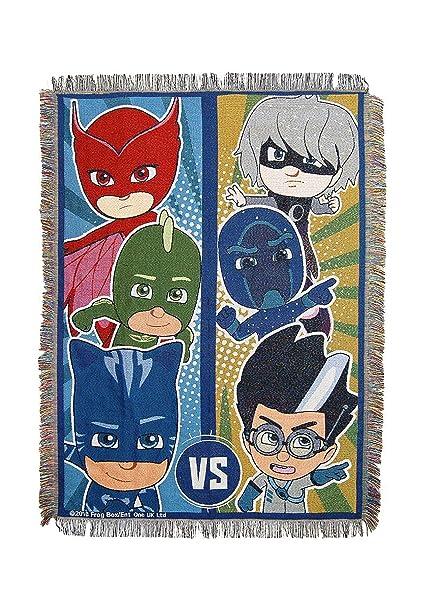 """Eones PJ Masks, """"Good vs. Evil"""" Woven Tapestry Throw Blanket,"""