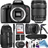 Canon EOS Rebel T7i DSLR Camera with 18-135mm Lens w/ Advanced Photo and Travel Bundle + DigitalAndMore FREE Accessories
