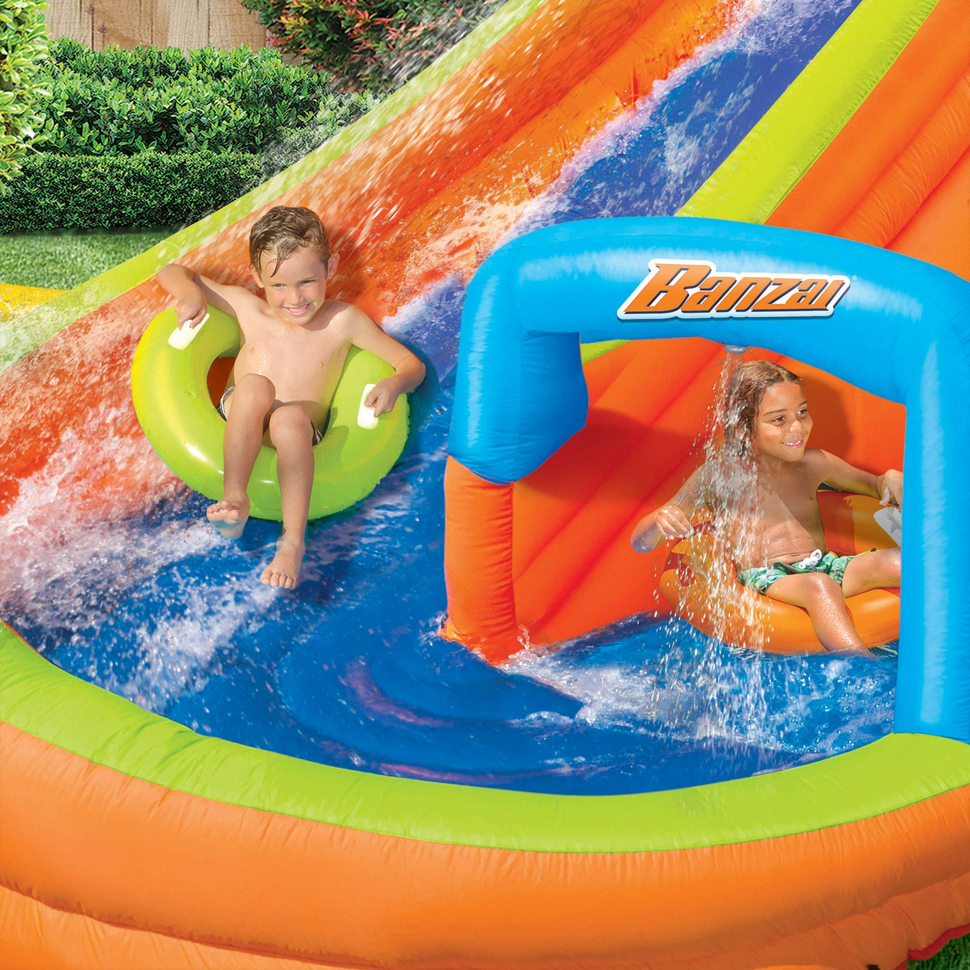 BANZAI Lazy River Inflatable Outdoor Adventure Water Park Slide and Splash Pool by BANZAI (Image #5)
