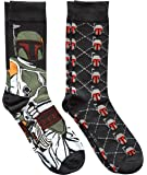 Star Wars Boba Fett Argyle Men's Crew Socks 2 Pair Pack Shoe Size 6-12