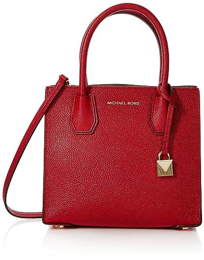 5f3d00853f24 Michael Kors Womens Mercer Cross-Body Bag Red (Bright Red)  Amazon ...
