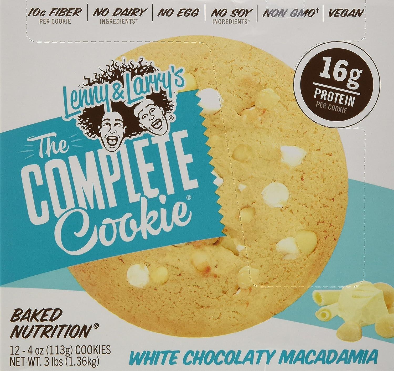 Lenny & Larrys The Complete Cookie White Chocolate Macademia - 12 Barras: Amazon.es: Salud y cuidado personal