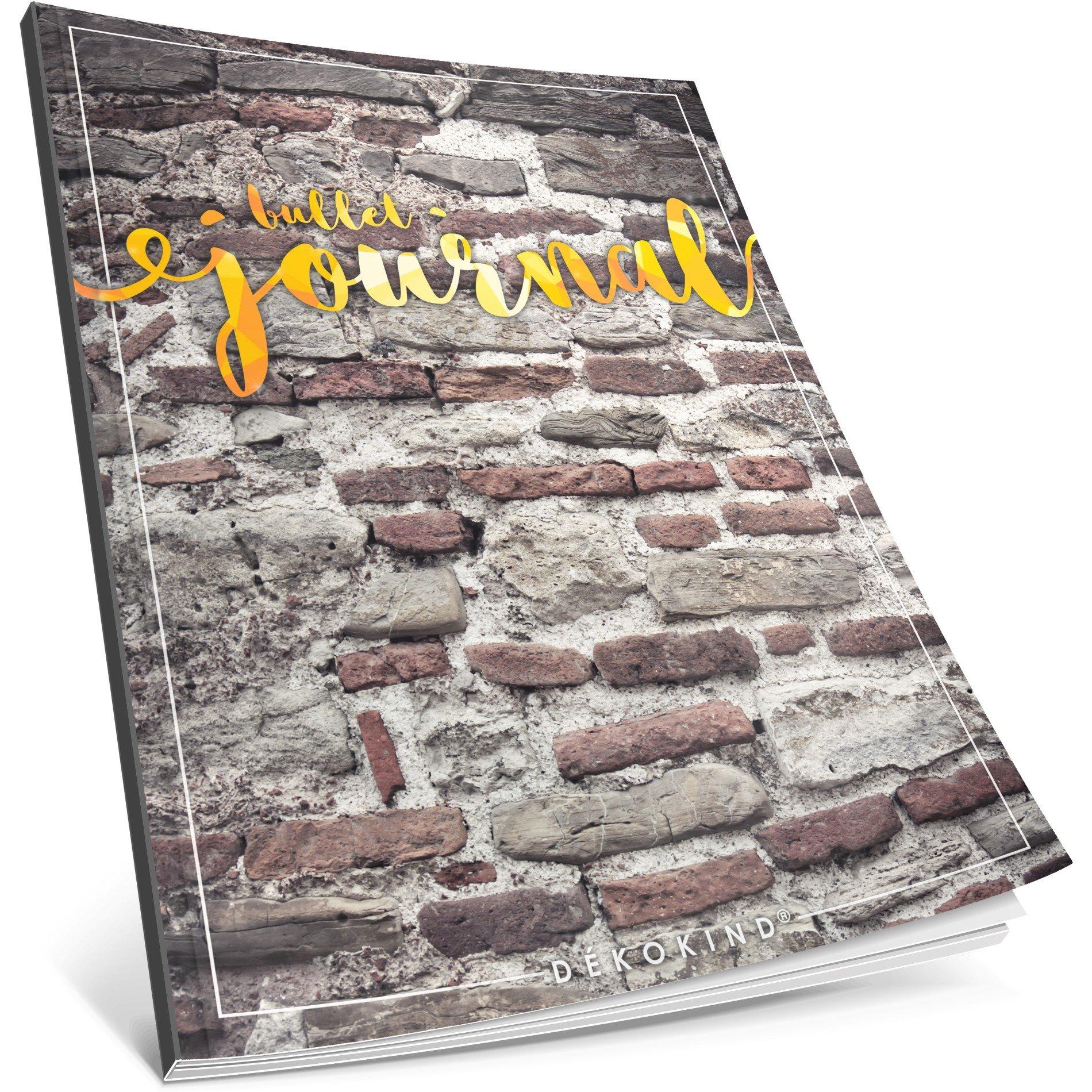 Dékokind® Bullet Journal: Ca. A4-Format • 100 Seiten, Punktraster Notizbuch mit Register • Dot Grid Notebook, Punktkariertes Papier, Skizzenbuch • ArtNr. 15 Backstein • Vintage Softcover