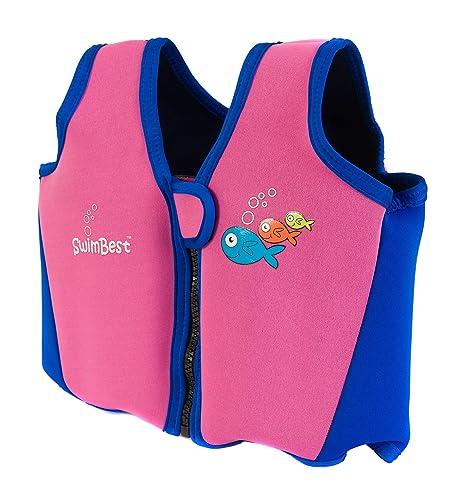 Swimbest Chaquetas de Natacion 16 Meses-3 años Rosa y Azul Marino ...