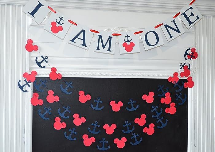 Amazon I Am One Mickey Mouse Birthday Banner Decorations Handmade