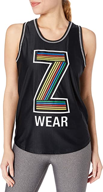 STRONG by Zumba Womens High Neck Workout Fashion Design Tank Top Donna