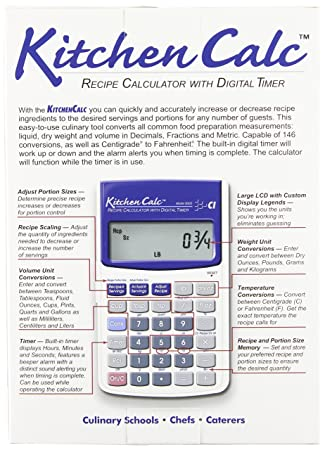 Calculated industries kitchencalc 8300 recipe calculator with calculated industries kitchencalc 8300 recipe calculator with digital timer kitchen calculator amazon forumfinder Choice Image