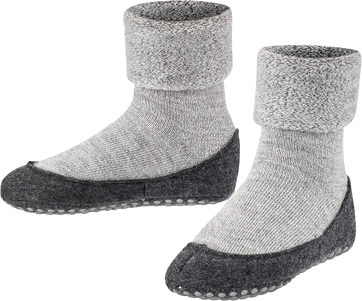 FALKE Unisex-Child Cosyshoe Slipper Sock - 90% Merino Wool, In Blue, Grey or Red, Sizes 2 to 12 years, 1 Pair