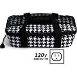 HOTLOGIC Food Warming Tote, Casserole Carrier 120V, Houndstooth