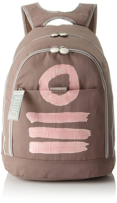 Oilily - Fun Nylon Backpack Lvz, Bolsos mochila Mujer, Beige (Taupe),