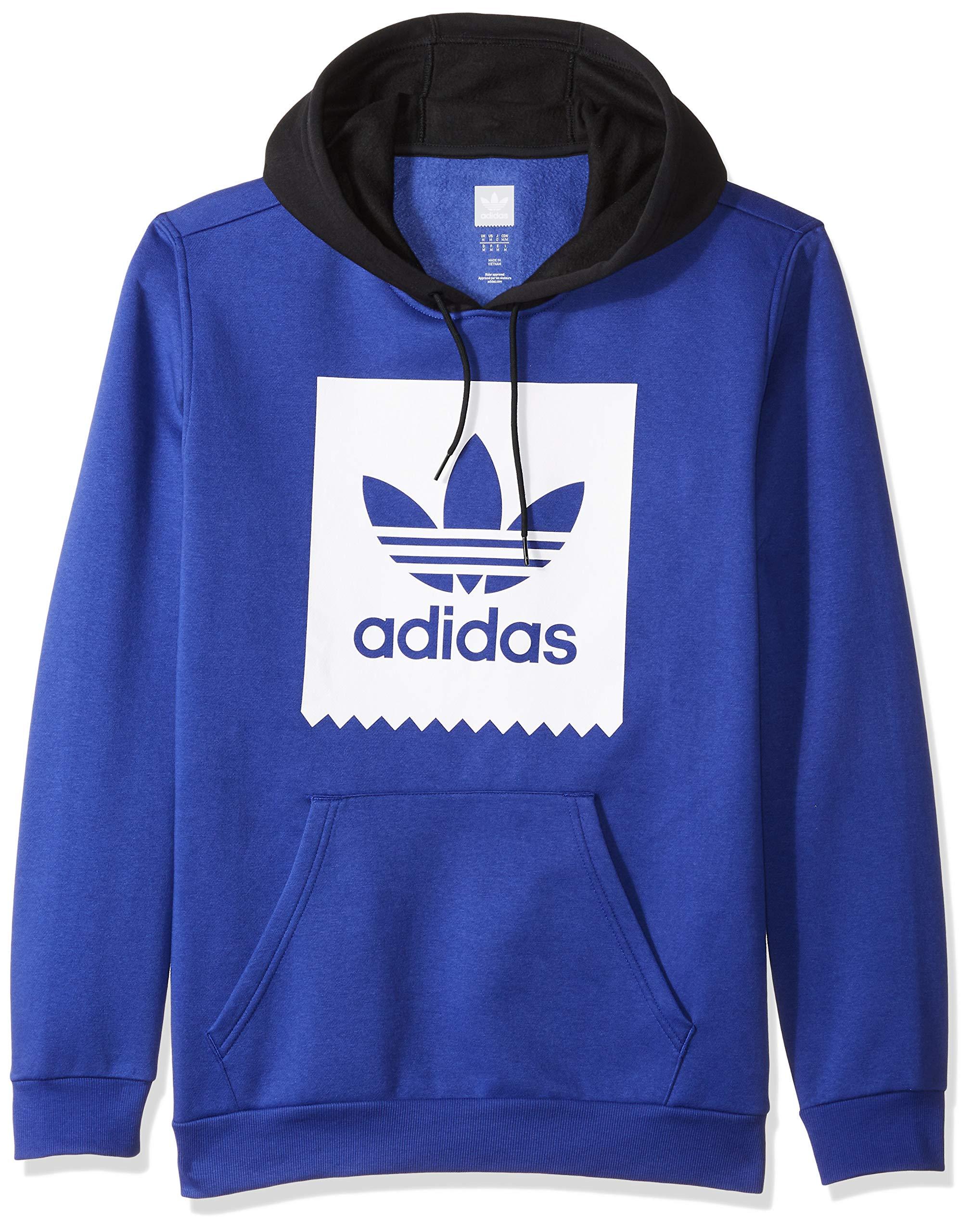 adidas Originals Men's Solid Bb Hoodie, active blue/white/black, X-Small by adidas Originals