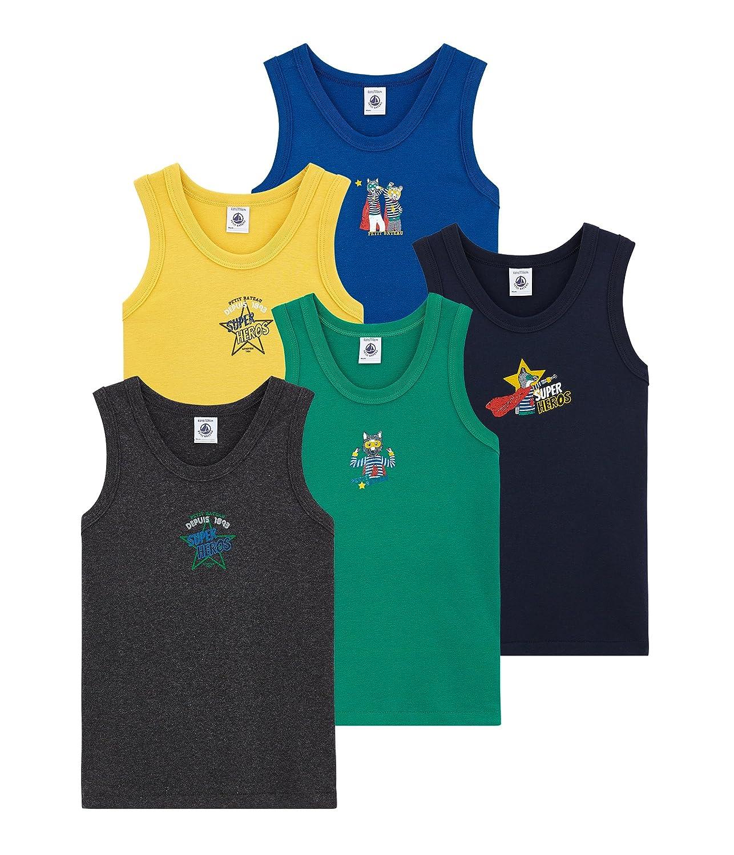 Petit Bateau Jungen Unterhemd, 5er Pack 4362000
