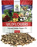 Wildflower Seeds Edible Flowers Mix - 1 Ounce Over 7,000 Open Pollinated Annual and Perennial Seeds
