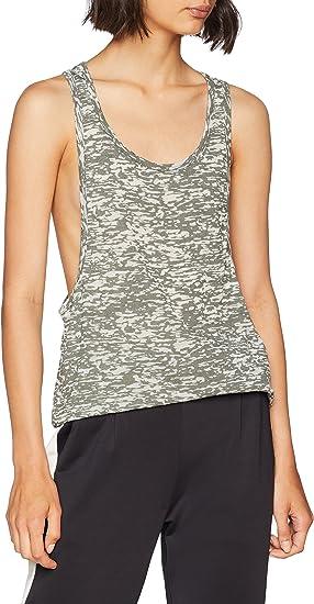 Urban Classics Melange Burnout Loose Camiseta Deportiva de Tirantes para Mujer