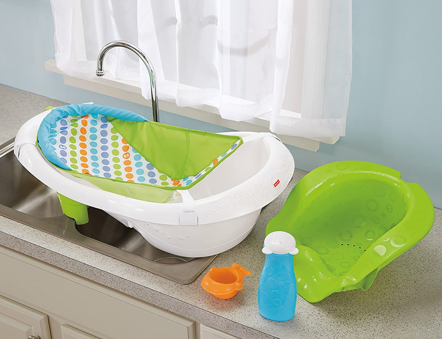 Amazon.com : Fisher-Price 4-in-1 Sling \'n Seat Tub : Baby Bathing ...