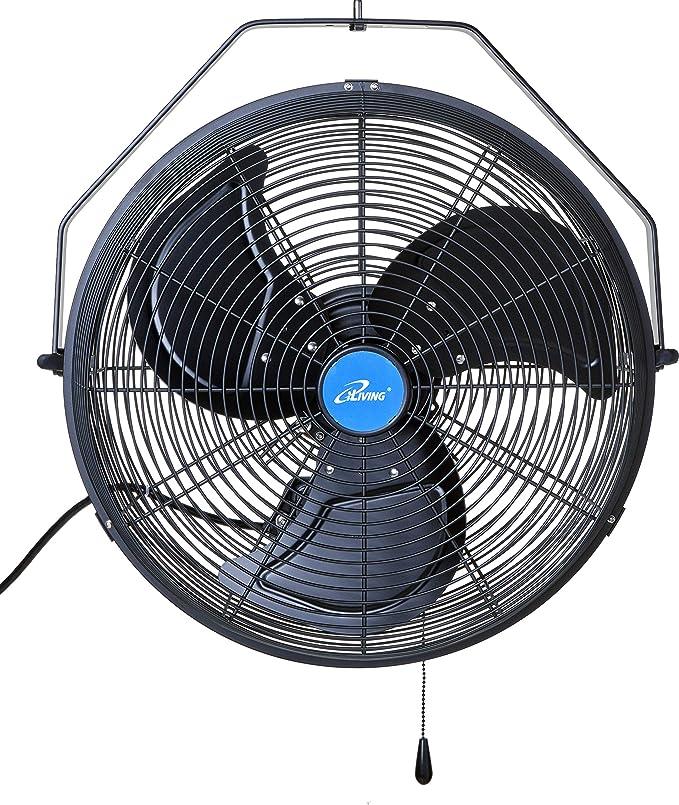 Iliving Ilg8e18 15 Wall Mount Outdoor Fan 18 Black Home Kitchen Amazon Com