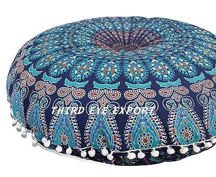 Amazon.com: Third Eye Export 32 In Mandala Barmeri Large Round Floor ...