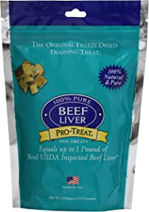 Stewart Pro-Treat, Freeze Dried Beef Liver Dog Treats, Single Ingredient, Grain Free, USA Made
